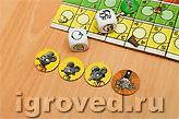 У каждого игрока есть четыре жетона мышек. Если все будут съедены котом, то игрок проигрывает
